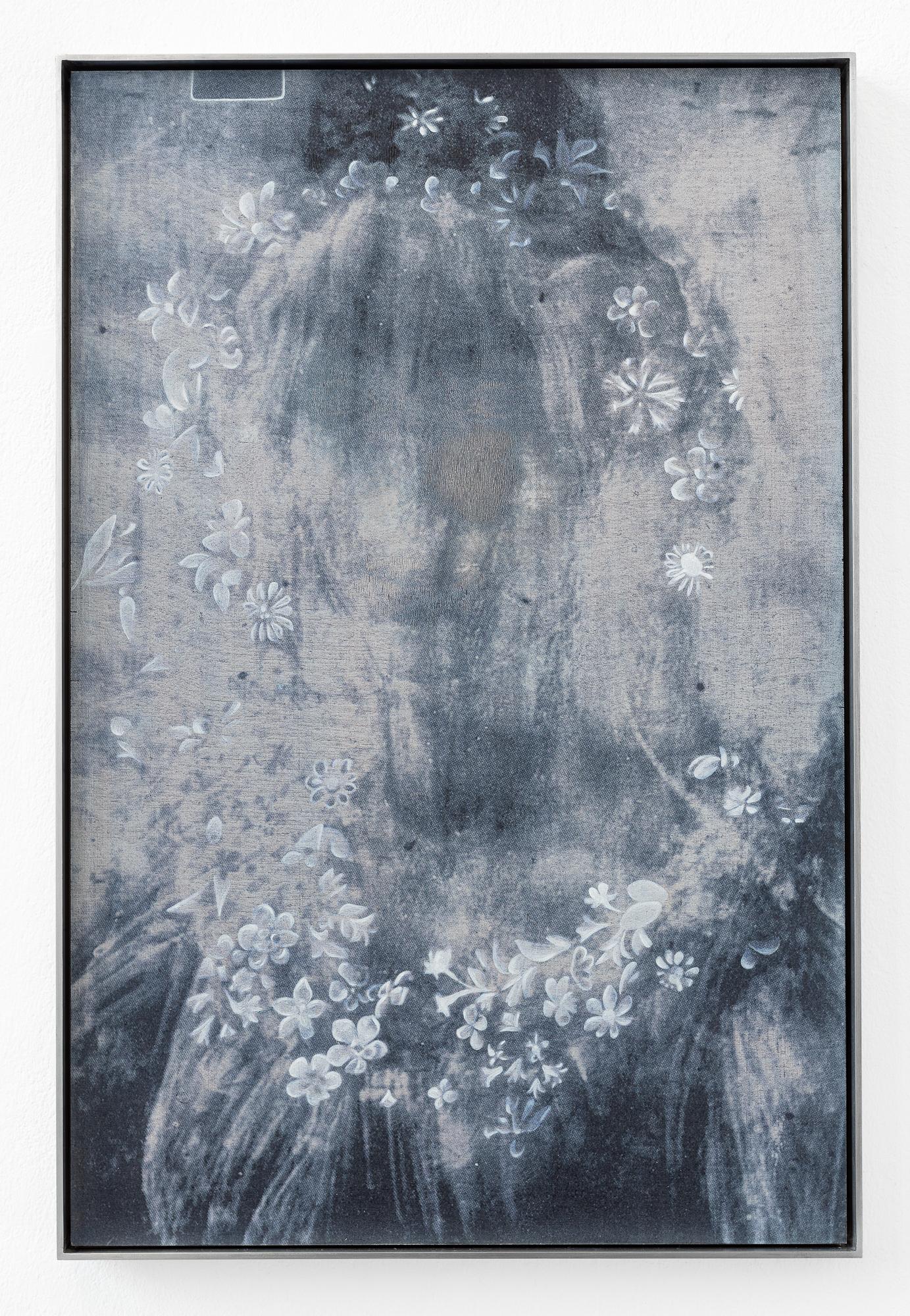 "Johanna Tiedtke, aus der Serie ""Flora"", UV-Print, Öl auf Holz, 80 x 100 cm 2021"