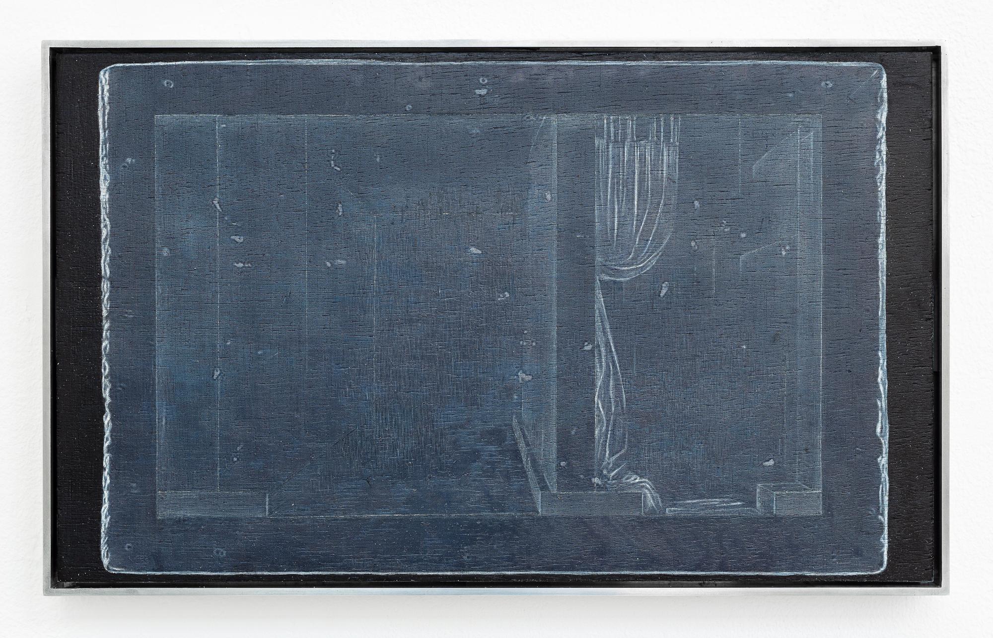 "Johanna Tiedtke, aus der Serie ""Flora"", UV-Print, Öl auf Holz, 19 x 31 cm 2021"