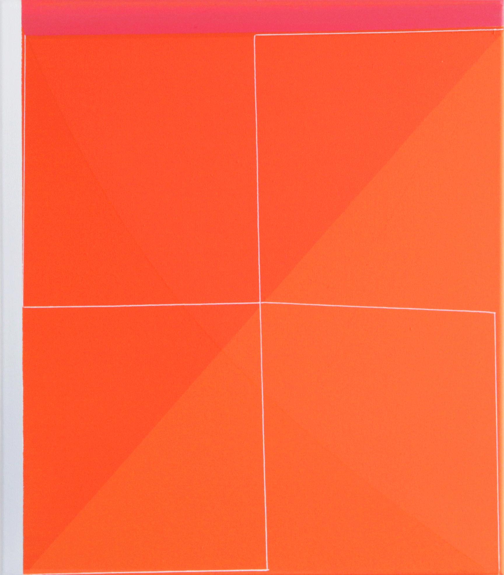 Daniel Hörner, Haken III, 52 x 45 cm, Öl auf Leinwand, 2014