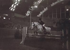 1976 Simone Richter mit Blitz - Erster internationaler Auftritt in der Münsterlandhalle