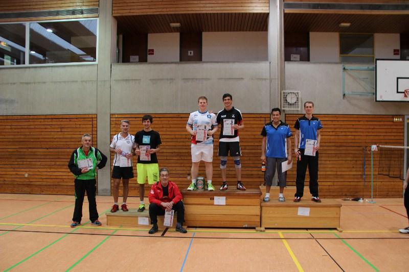 Siegerehrung Herrendoppel Ranglisten Turnier Feuerbach