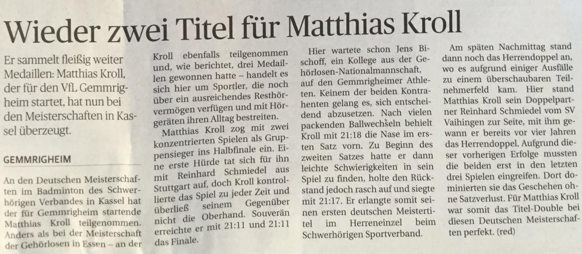 Bericht NEB DM DSSV Kassel