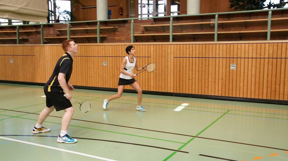Matthias und Seham in Aktion