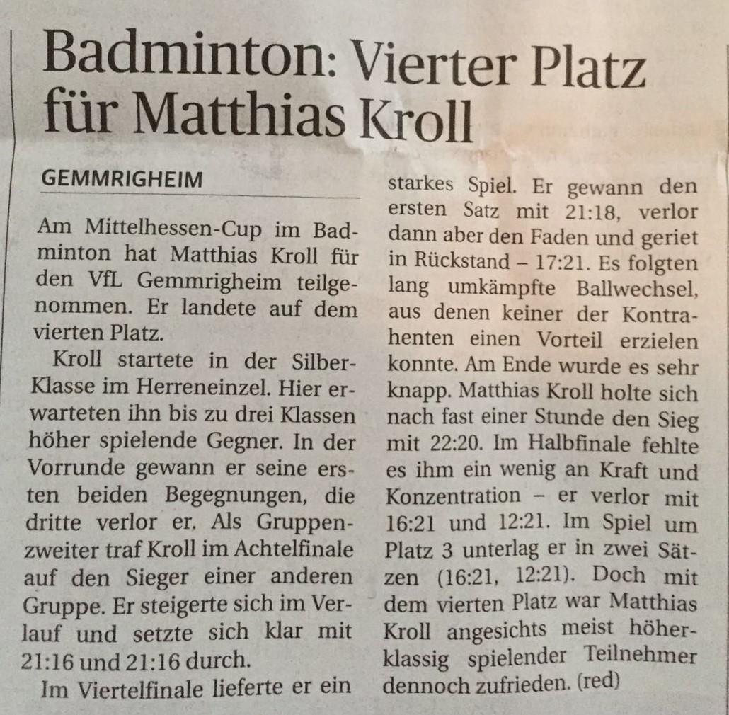 Bericht NEB zum Mittelhessen-Cup in Wetzlar