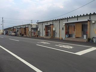 益城町で見かけた仮設住宅です。