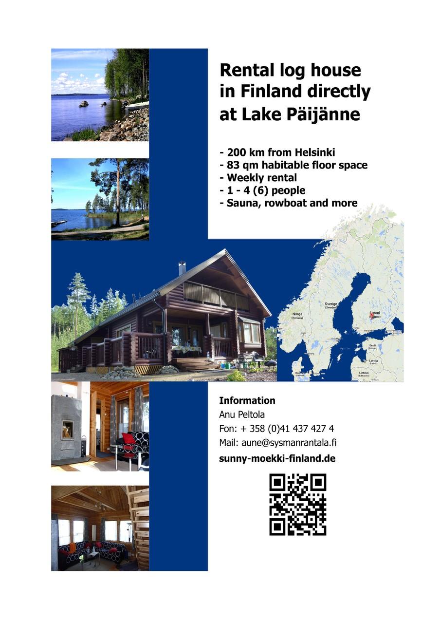 vuokra m kki suomi finland ferienhaus direkt am see mieten finnland. Black Bedroom Furniture Sets. Home Design Ideas