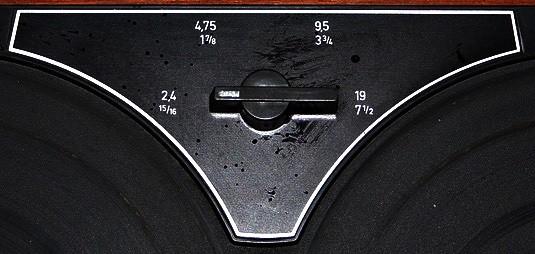 Geschwindigkeitsumschalter für vier Bandgeschwindigkeiten beim Philips EL3556 (RK65)