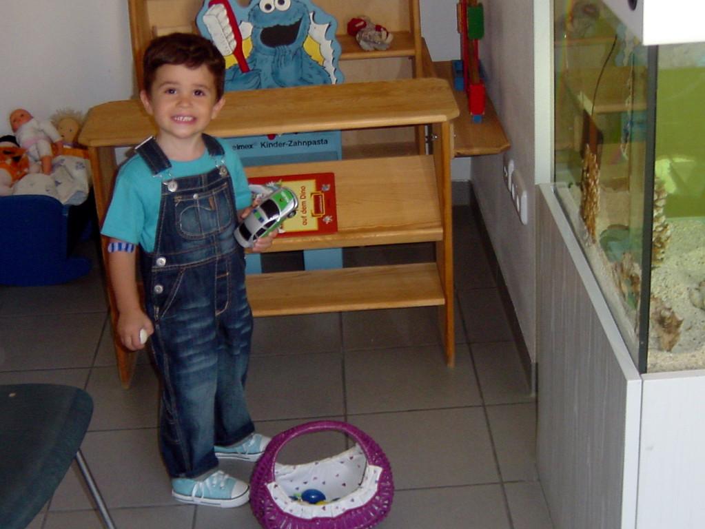 im Wartezimmer finden die Kinder eine ihnen gerechte Umgebung