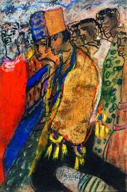 Else Lasker-Schüler, Jussuf, 1927 Kreiden, Tinte, Tusche, collagierte Goldfolie 20,3 x 13,6 cm Literatur- und Kunstinstitut Hombroich / Sammlung Kahmen, Neuss; Foto: Achim Kukulies