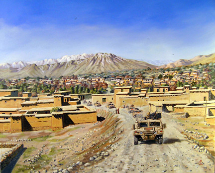 Afghanistan.  Commissioned by the Bahrein Defence Force.