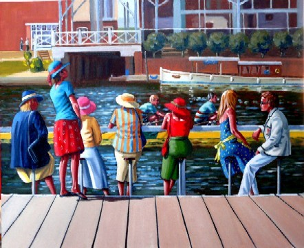 Bums, Henley Royal Regatta - Sold at AFAS exhibition, Mall Galleries, London