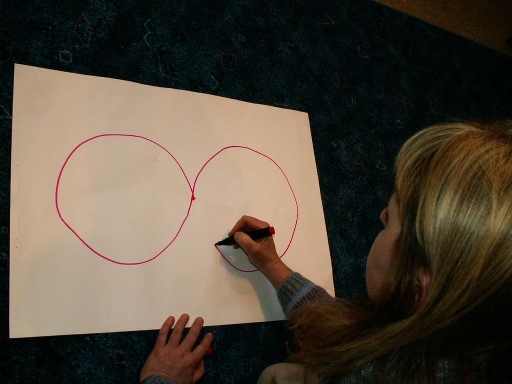 Die Liegende Acht ist eine Übung, die man schon mit Kindern im Kindergartenalter spielerisch machen kann und...