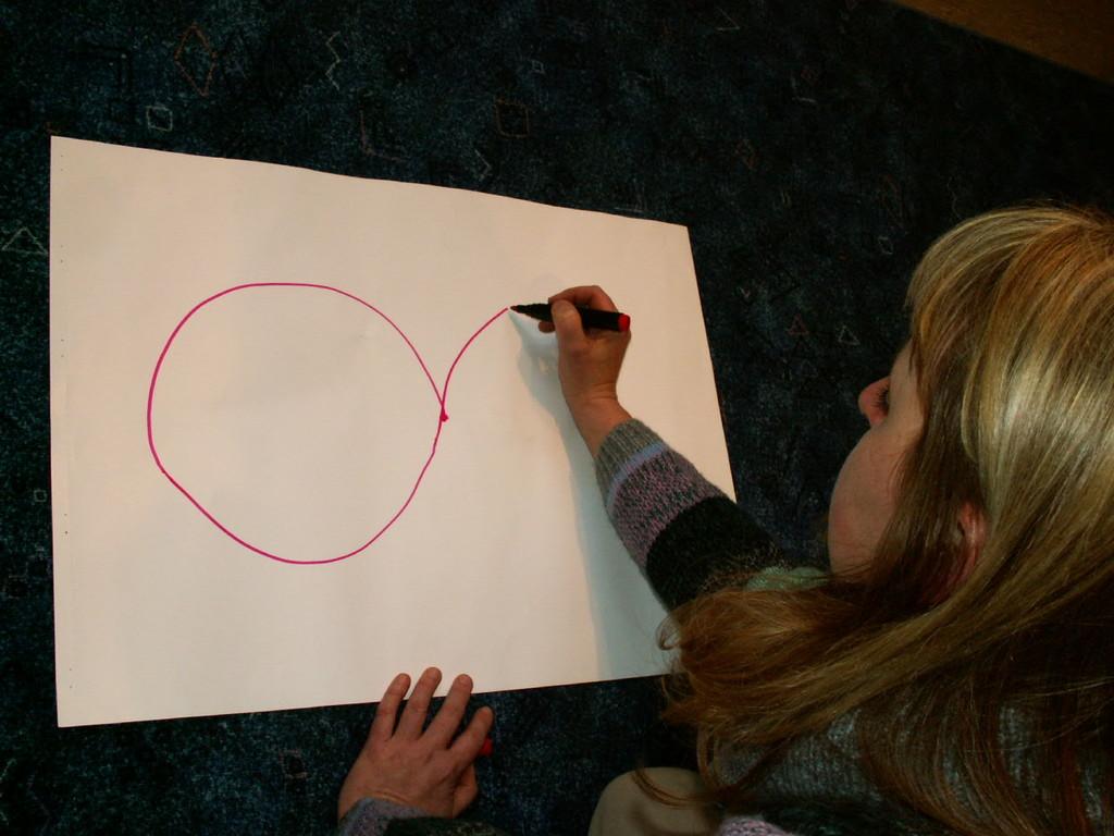 Die Liegende Acht als Übung wurde zur Unterstützung beim Lernen entwickelt.