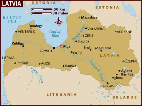 Map of Latvia