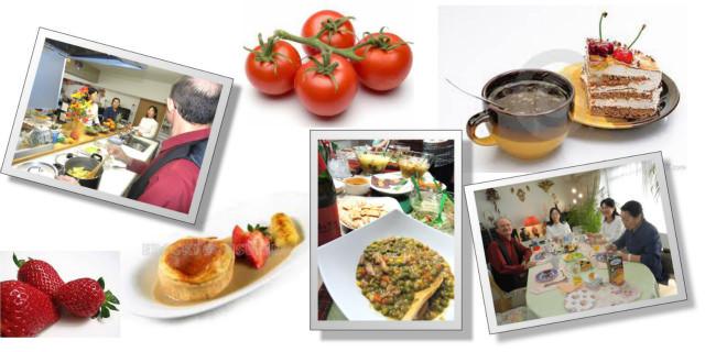 クッキングレッスンでは、設備の整った当校内のキッチンにおいて、ワインや食に関連する業界の専門家により、言語と料理を一度に学べます。