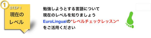 """勉強しようとする言語について現在のレベルを知りましょう EuroLingualの""""レベルチェックレッスン""""をご活用ください"""