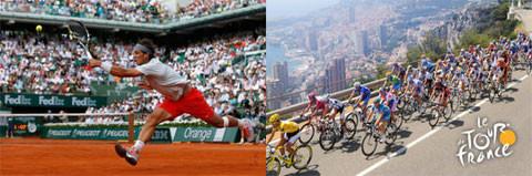 le tournoi de tennis Roland Garros