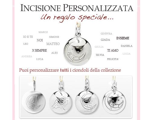 chiama angeli argento personalizzato