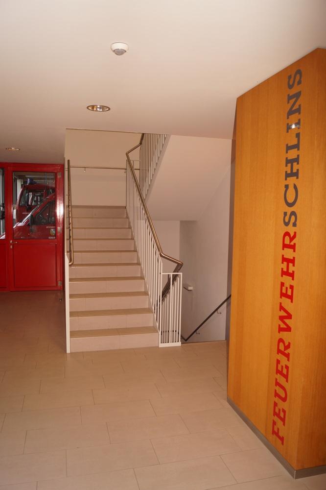 Aufgang in den 1. Stock