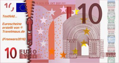 Euro mit Reißverschluss