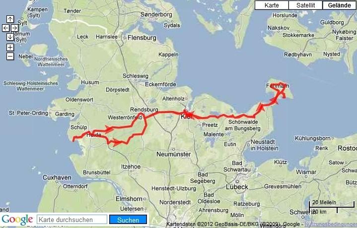 Büsum-Fehmarn-Büsum 430 km