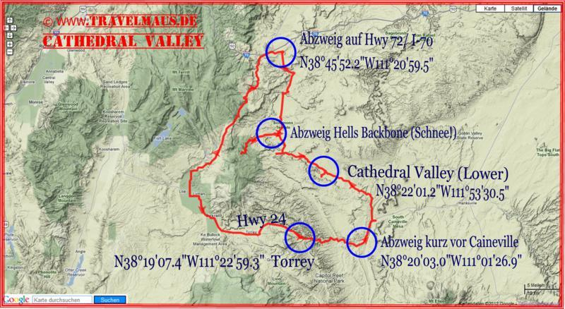 Torrey - Cathedral Valley - Torry 250 km