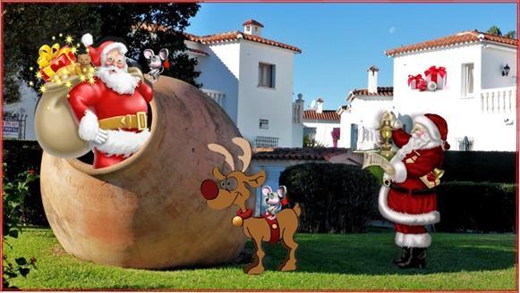 Die Weihnachtsmänner und die Travelmäuse  in vorweihnachtlicher Aktion.