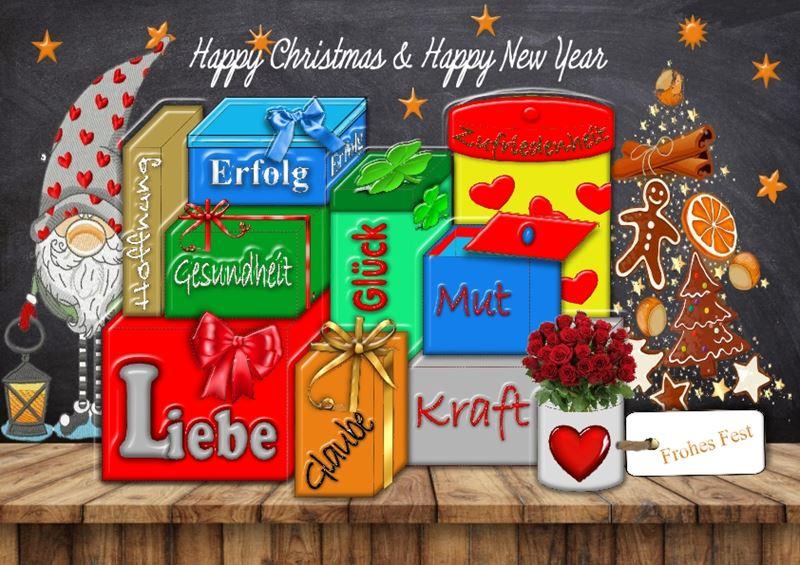 Weihnachtskarte mit immateriellen Wünschen