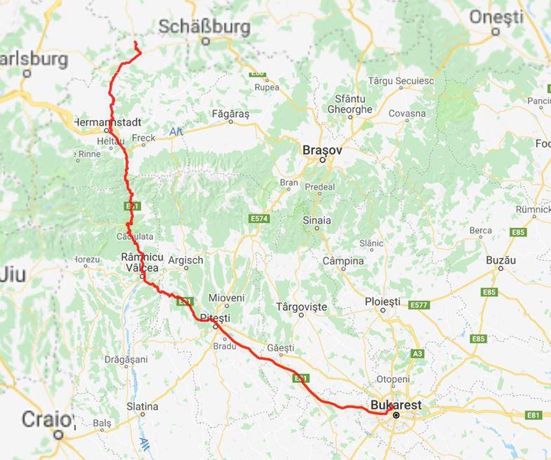 Tagesstrecke: 345 km