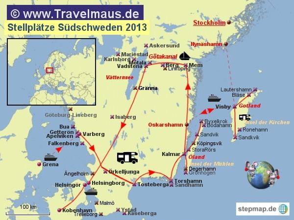 Schweden Karte Pdf.Stellplatze Sudschweden Reisetagebuch Der Travelmause