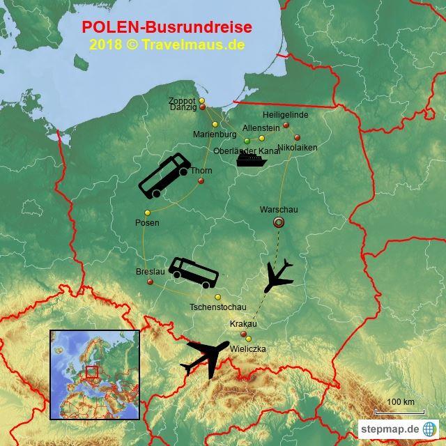 Busrundreise Polen Juni 2018