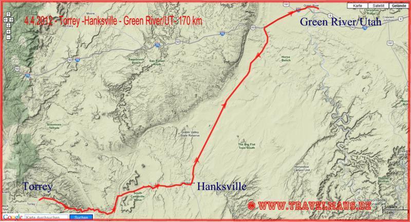 Torrey - Hwy 24 / Hanksville - Green River (UT) 170 km