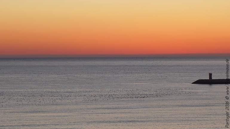 Sonnenuntergang an der Algarve - vom Hotel aus aufgenommen.