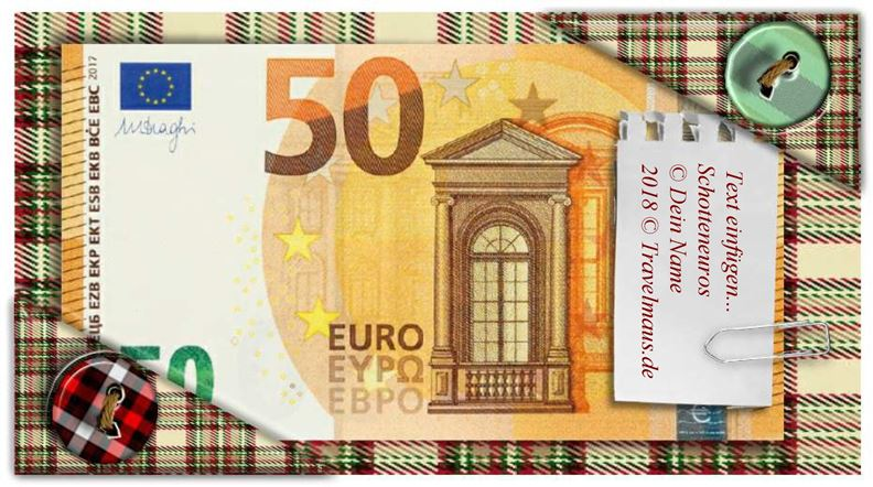 PDF-Euroscheine am PC ausfüllen und ausdrucken - Reisetagebuch der Travelmäuse