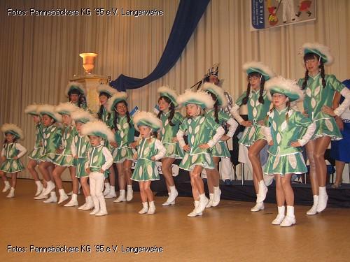 2012 - Ausmarsch nach Langerwehe -  Auftritt der Kindergarde