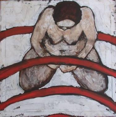 Ausschnitt Labyinth des Lebens, 2003, Acryl auf Leinwand, 80 x 80 cm