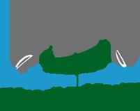 Schlauchboot oder Kanu fahren auf der Weser