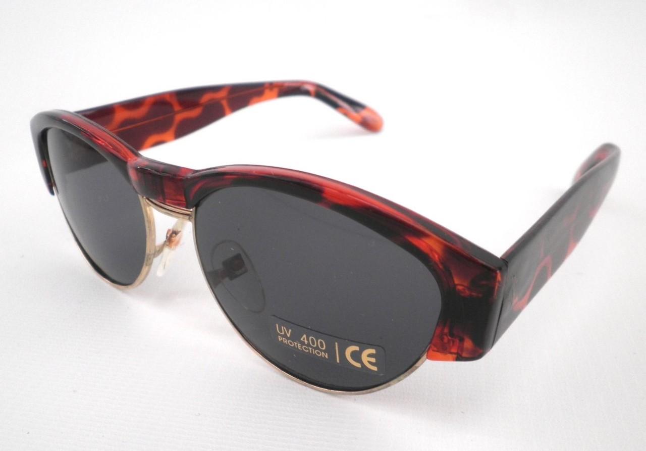 Damenbrille Sonnenbrille in Schwarz/Grau mit Strass Retro Vintage 80er Jahre vyrZ6