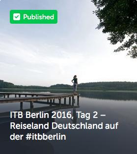 ITB Berlin 2016, Tag 2 – Reiseland Deutschland auf der #itbberlin