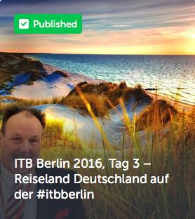 ITB Berlin 2016, Tag 3 – Reiseland Deutschland auf der #itbberlin