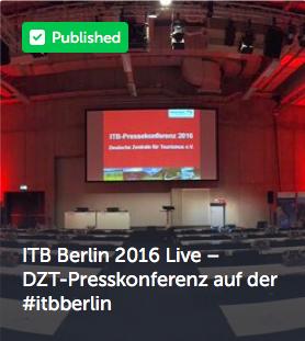 ITB Berlin 2016 Live – DZT-Presskonferenz auf der #itbberlin
