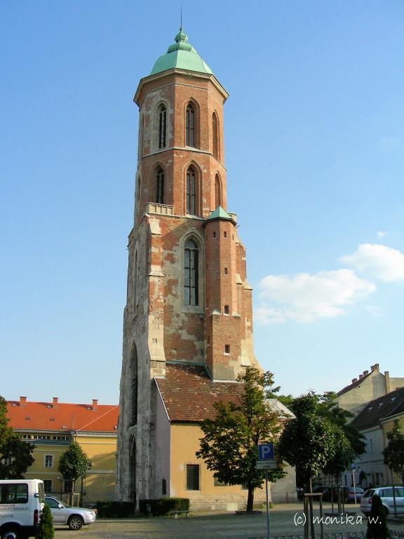 Turm der zerstörten Magdalenenskirche (erbaut 15. Jahrh.)