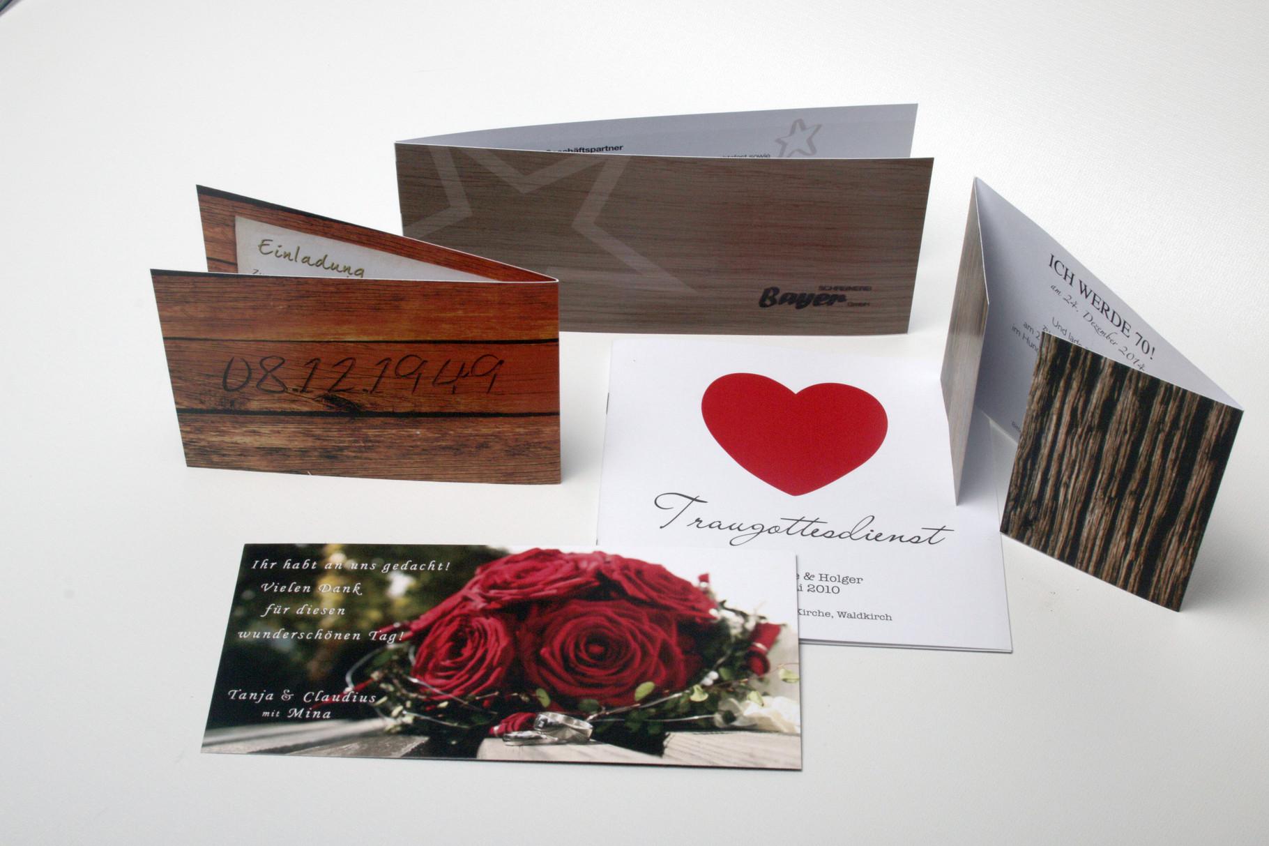 Einladungskarte Digitaldruck
