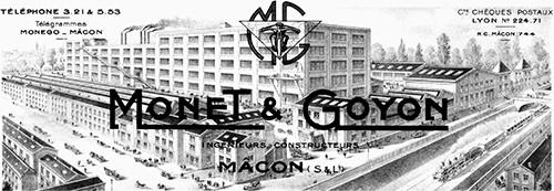Dessin de l'usine Monet & Goyon à Mâcon