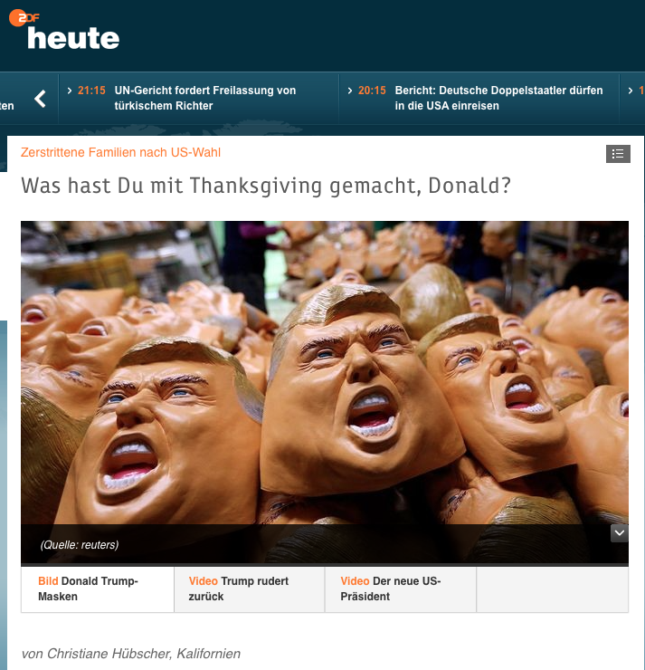 Nach US-Wahl: Angst vor Thanksgiving