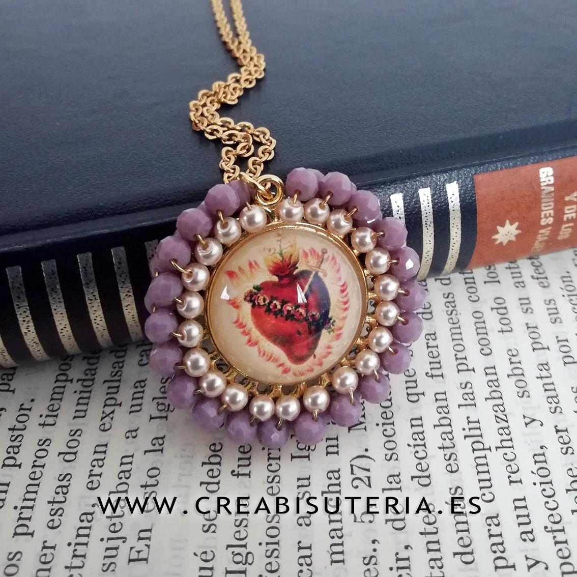Medalla bordada Sagrado Corazón