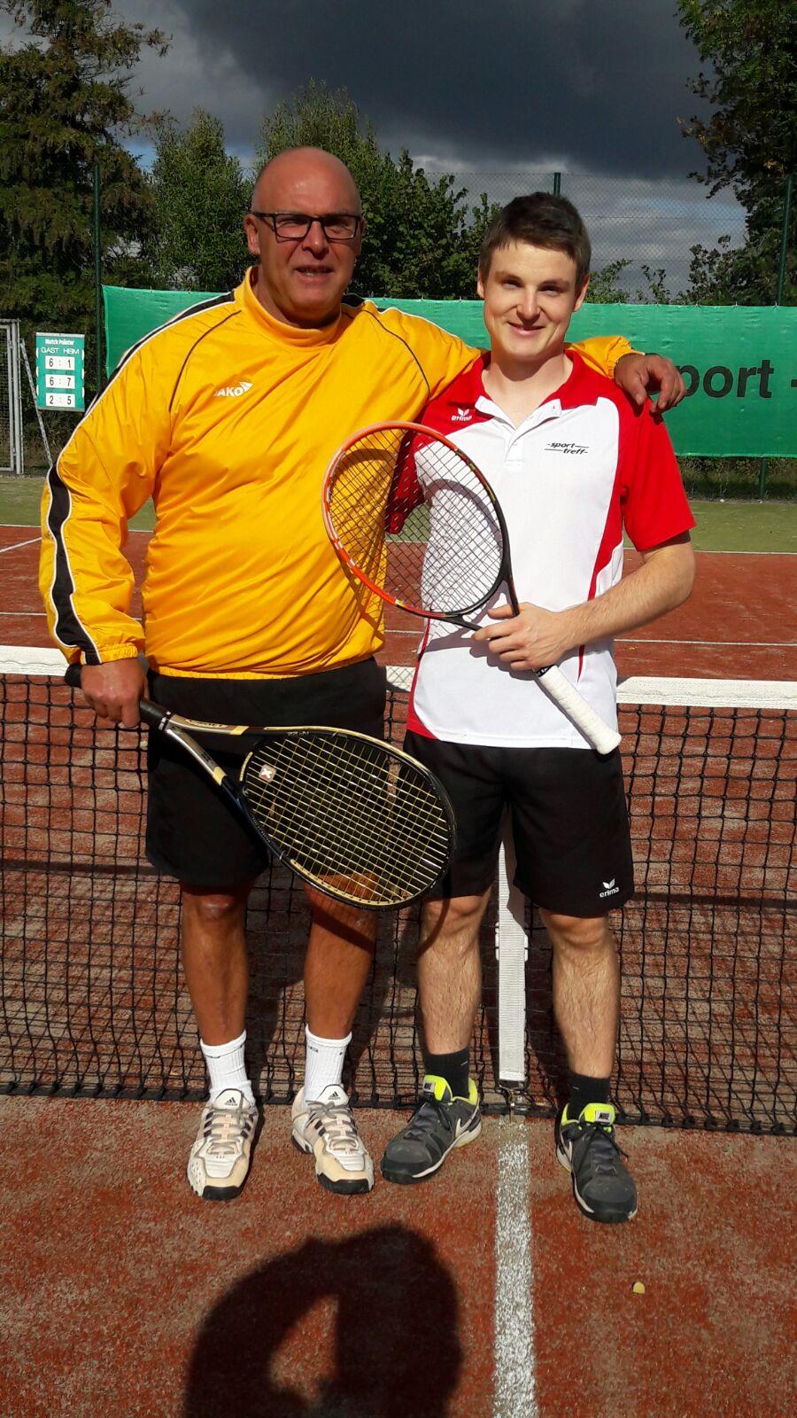 2. Platz Herren-Doppel: K.Schlein/C.Seidl