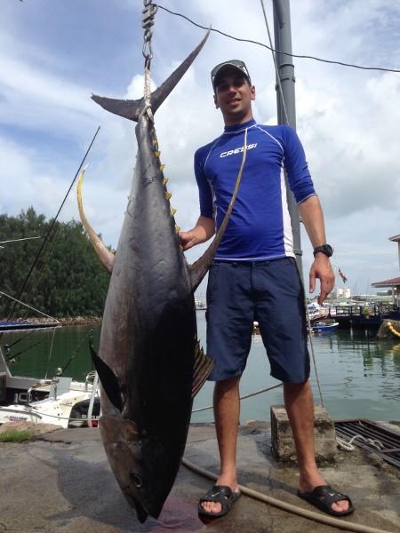 Seychellen angeln Gelbflossentun Jan. 2014