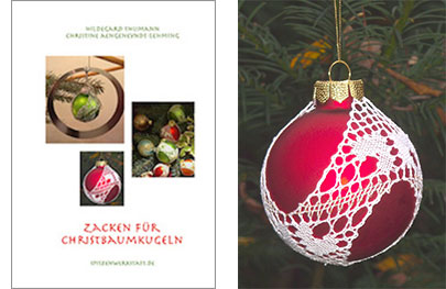 Geklöppelte Christbaumkugeln Weihnachtsschmuck
