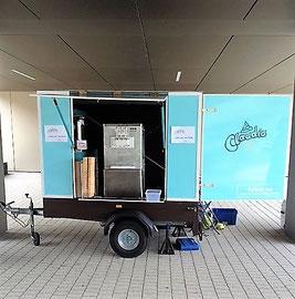 Der erste Eiswagen.